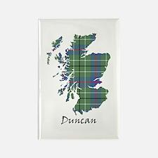 Map - Duncan Rectangle Magnet