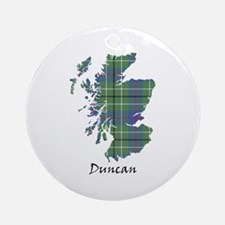 Map - Duncan Ornament (Round)