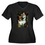 Ophelia / Silky T Women's Plus Size V-Neck Dark T-