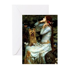 Ophelia / Silky T Greeting Cards (Pk of 20)