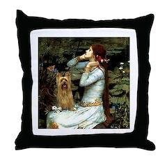 Ophelia / Silky T Throw Pillow