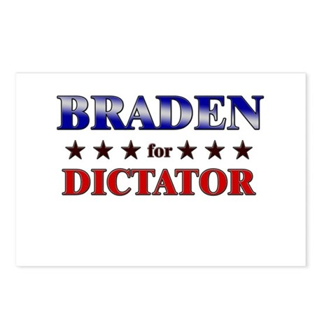 BRADEN for dictator Postcards (Package of 8)