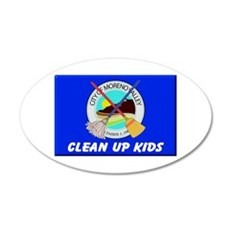 Moval Clean Up Kids Wall Decal