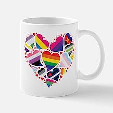 All Pride Heart Mugs