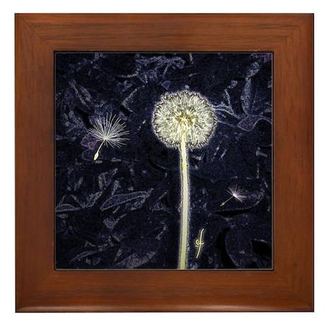 Dandelion Puff Framed Tile