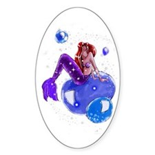 Mazu Mermaid Sticker (Oval)