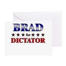 BRAD for dictator Greeting Card