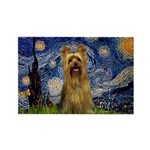 Starry Night / Silky T Rectangle Magnet
