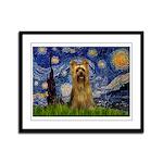 Starry Night / Silky T Framed Panel Print