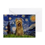 Starry Night / Silky T Greeting Cards (Pk of 10)