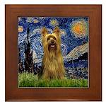 Starry Night / Silky T Framed Tile