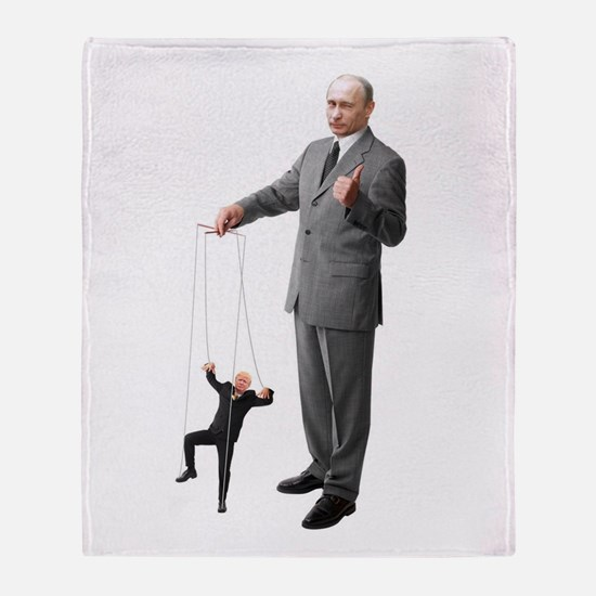 Putin Pulls The Strings Throw Blanket