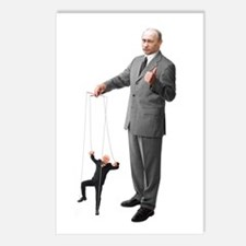 Putin Pulls The Strings Postcards (package Of 8)