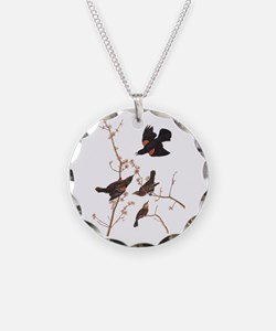 Red-Winged Starling Vintage Audubon Necklace