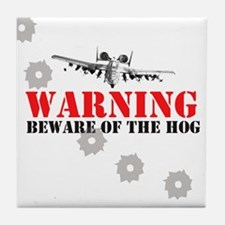 A-10 Warthog witty slogan Tile Coaster