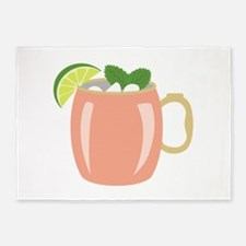 Moscow Mule Drink 5'x7'Area Rug