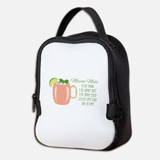 Moscow Mule Recipe Neoprene Lunch Bag