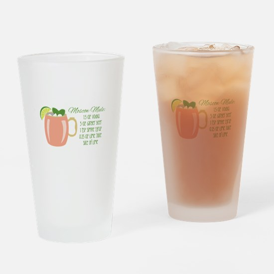 Moscow Mule Recipe Drinking Glass