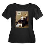 Whistler's / 3 Shelties Women's Plus Size Scoop Ne