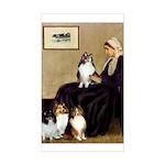 Whistler's / 3 Shelties Sticker (Rectangle)