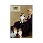 Whistler's / 3 Shelties Rectangle Magnet (10 pack)