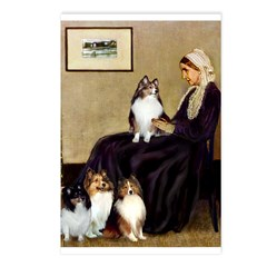 Whistler's / 3 Shelties Postcards (Package of 8)