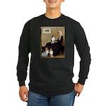 Whistler's / 3 Shelties Long Sleeve Dark T-Shirt