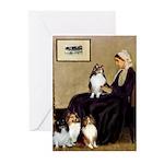Whistler's / 3 Shelties Greeting Cards (Pk of 10)