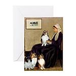 Whistler's / 3 Shelties Greeting Card
