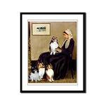 Whistler's / 3 Shelties Framed Panel Print