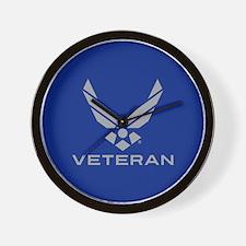 U.S. Air Force Logo Veteran Wall Clock