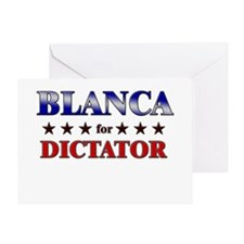 BLANCA for dictator Greeting Card