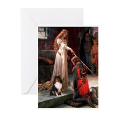 Accolade / Sheltie tri Greeting Cards (Pk of 10)