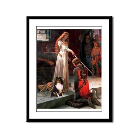Accolade / Sheltie tri Framed Panel Print