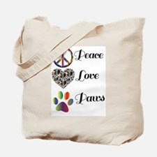 Cute Peace love paws Tote Bag