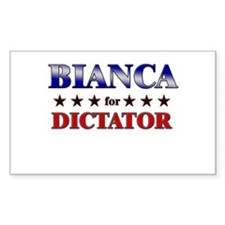 BIANCA for dictator Rectangle Decal