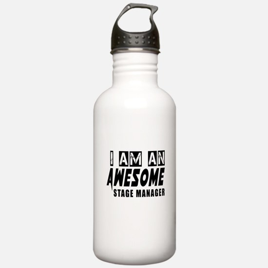 I Am Stage Manager Water Bottle