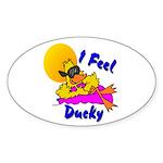 Duck Wear Oval Sticker