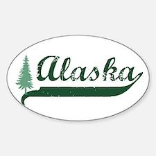 Alaska - Green Oval Decal