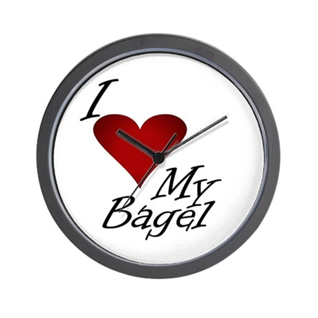 I Love My Bagel Wall Clock