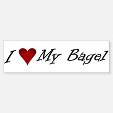 I Love My Bagel Bumper Bumper Bumper Sticker
