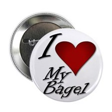 """I Love My Bagel 2.25"""" Button"""