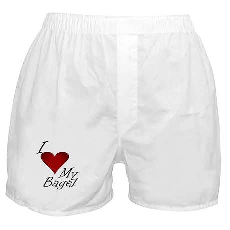 I Love My Bagel Boxer Shorts
