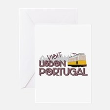 Visit Lisbon Portugal Greeting Cards