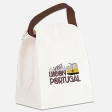 Visit Lisbon Portugal Canvas Lunch Bag