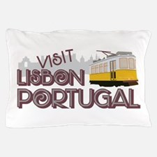 Visit Lisbon Portugal Pillow Case