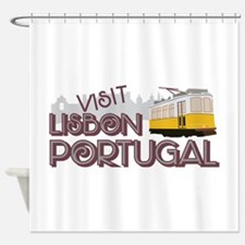 Visit Lisbon Portugal Shower Curtain