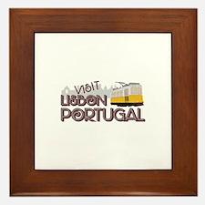 Visit Lisbon Portugal Framed Tile