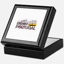 Visit Lisbon Portugal Keepsake Box