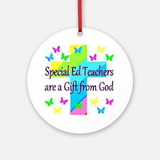 TEACHER PRAYER Round Ornament